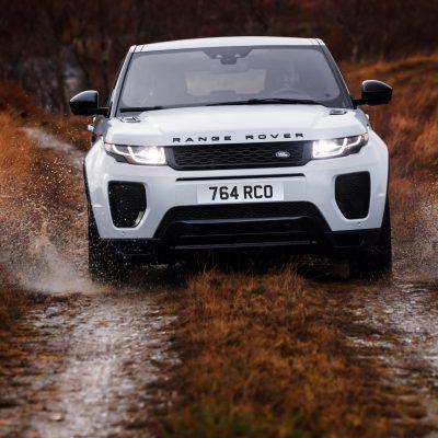 Broker Samochodowy Range Rover Evoque Select Automotive Biały Droga Leśna Przód